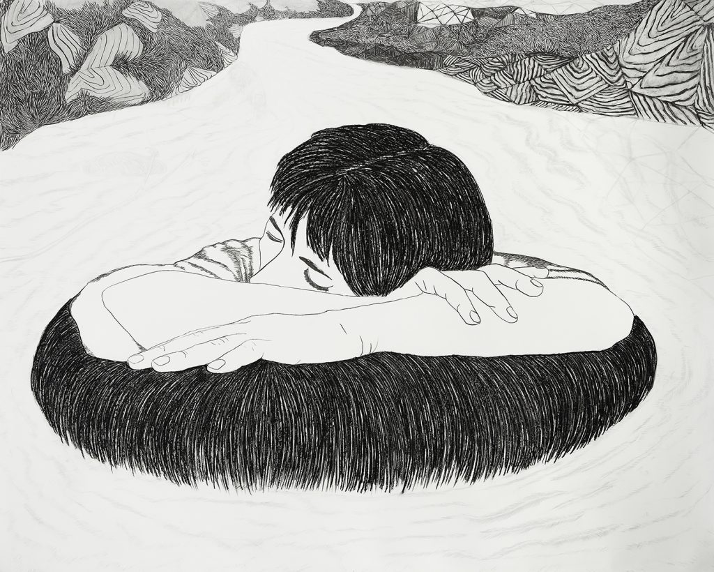Viviana Blanco Crecida nocturna Carbonilla sobre papel 132 x 165 cm La Hora Presente Galeria Palatina Buenos Aires 2015