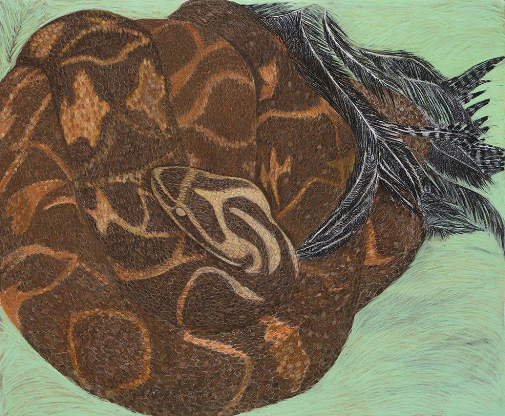 Viviana Blanco Serpiente(yarara) pastel tiza y carbonilla sobre papel 151 x 183 cm 2012